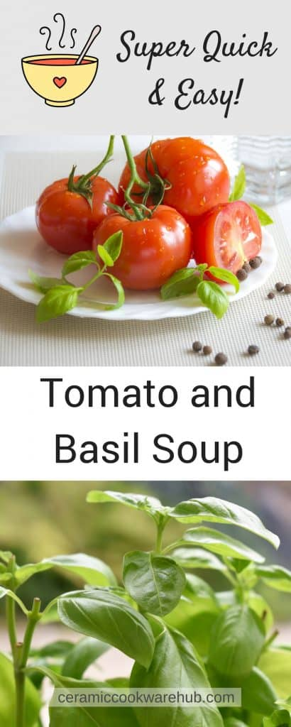 Super Easy Recipe, Tomato and Basil Soup, Stockpot Cooking, Soup, Cooking, Cookware