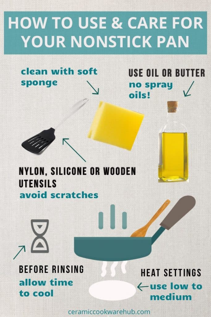 Tips on how to use and care for your nonstick pan