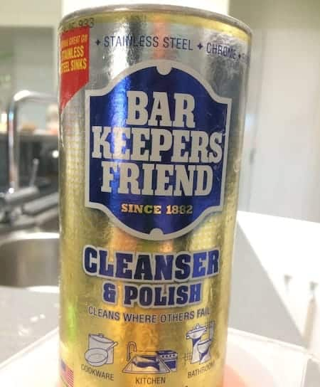 how to clean crock pot base, bar keepers friend cleanser & polish